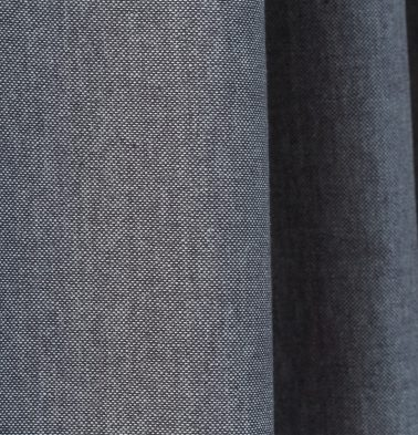 Chambray Cotton Custom Blinds Drizzle Grey