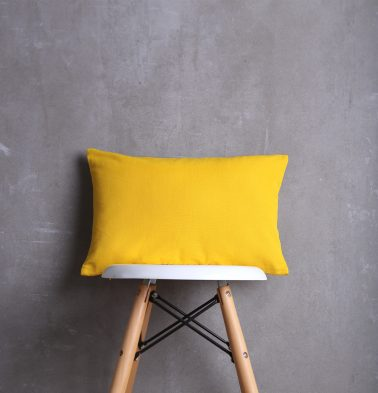 Solid Cotton Cushion cover Yellow  12