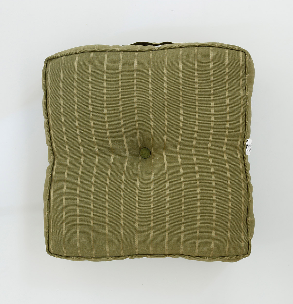 100 Floors Level 10: Stripe Cotton Floor Cushion Green