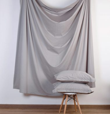 Solid Cotton Duvet Cover Grey