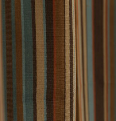 Stripes Cotton Custom Cushion Cover Brown