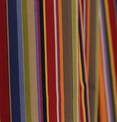 Sunny Stripes Cotton Custom Cushion Cover Multi-color