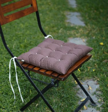Cotton Chairpad Brown