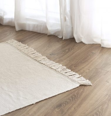 Handwoven Cotton Rug White 36