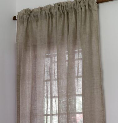Linen Curtain Oyster Grey