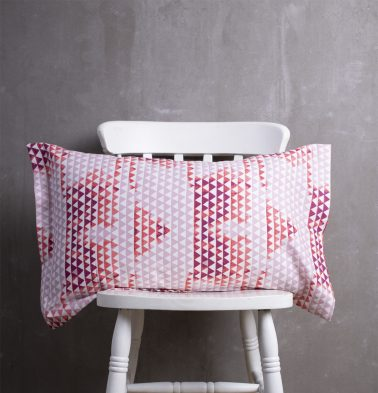 Star Triangle Cotton Pillow Cover Red