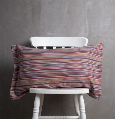 Woven Stripes Cotton Pillow Cover Red