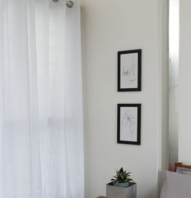 Powder White Cotton Curtain