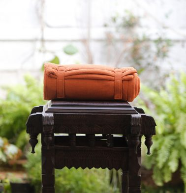 Cotton Travel bed- Rust
