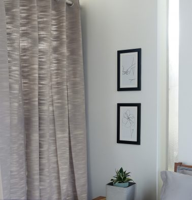 Slub Cotton Curtain Opal Grey