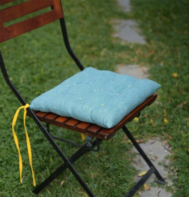Cotton Chairpad Textura Teal