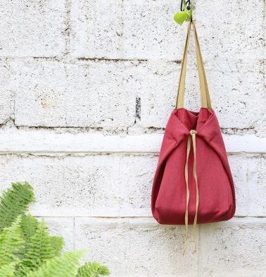 Adaptable Cotton Tote Bag Aurora Red/Yellow