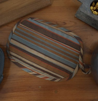 Stripe Cotton Pot Holder Brown